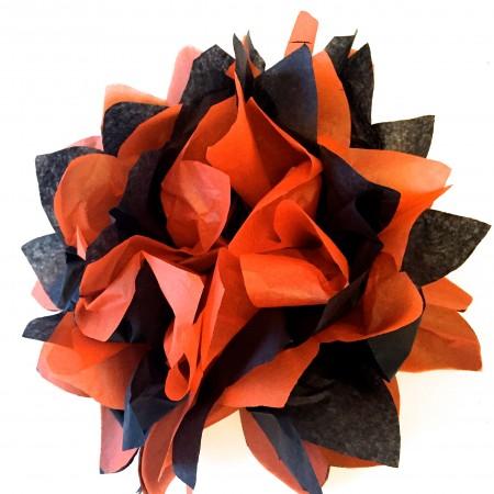 tissue paper pom pons
