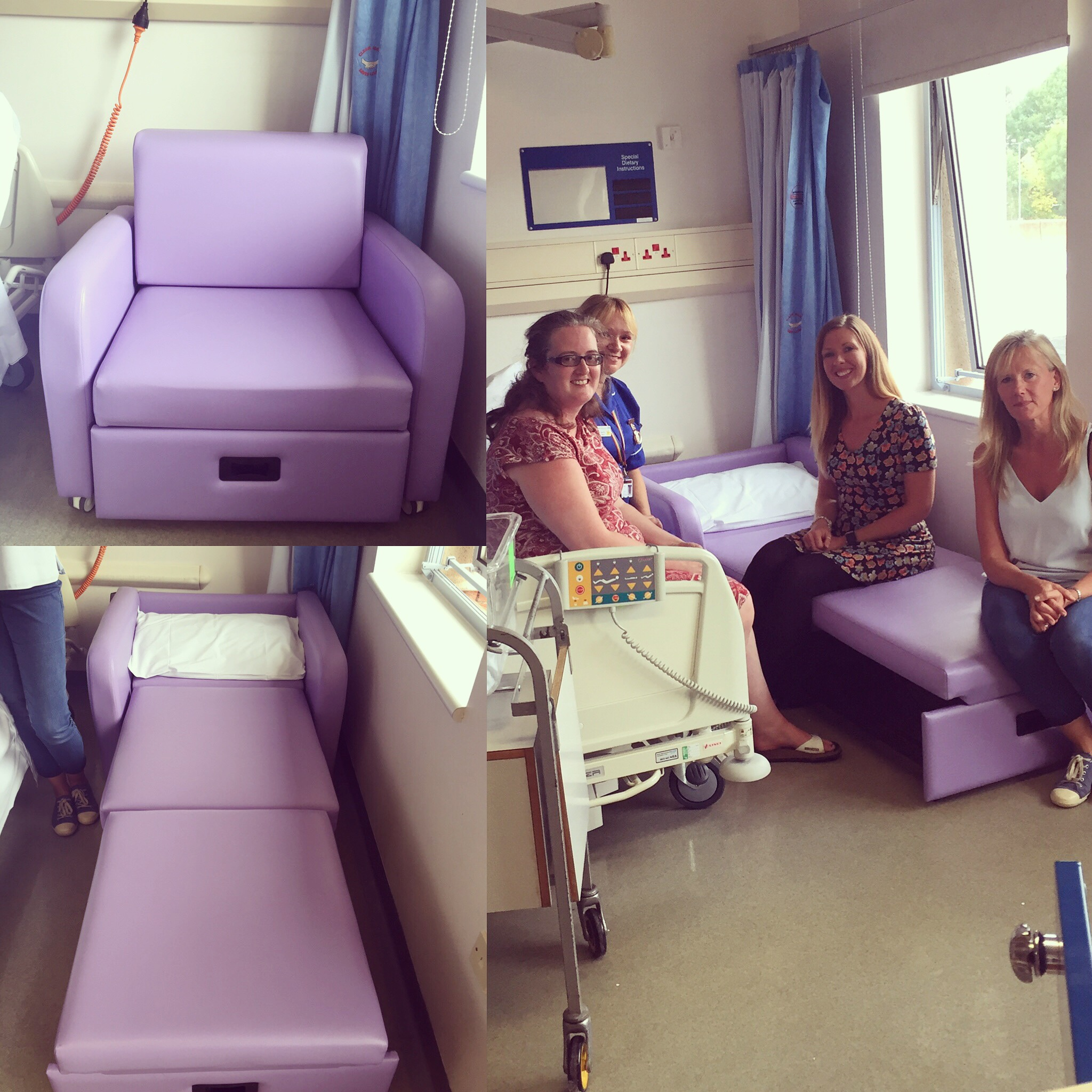 New Foldout Chair Arrives At Warwick Hospital Take It