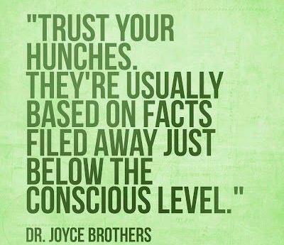 Trusting instincts