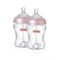 Nuby Pink 360 straw Bottle_Pair-250x250