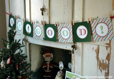 Elf On The Shelf Be Good Banner
