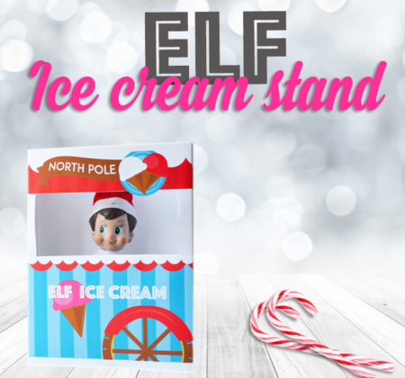 Elf Ice Cream Stand Free Printable
