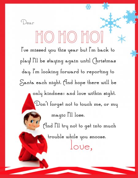 image regarding Printable Elf on the Shelf Goodbye Letter titled Pimp Your Elf Upon The Shelf Absolutely free Printables Get it Against