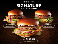 Mc Donalds Signature menu