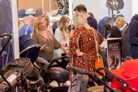 pushchairs at the baby show