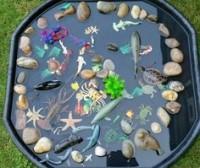 tuff tray seaside