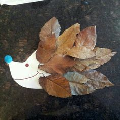 leaf hedgehogs craft autumn crafts take it from mummy 2316